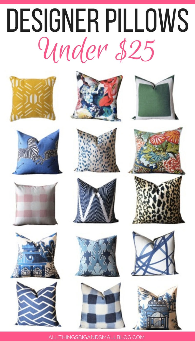 Affordable Throw Pillows for under $25! | Best Sources for Affordable Designer Pillows- ALL THINGS BIG AND SMALL