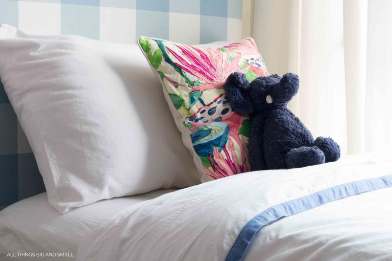 Darling blue border duvet from Serena & Lily