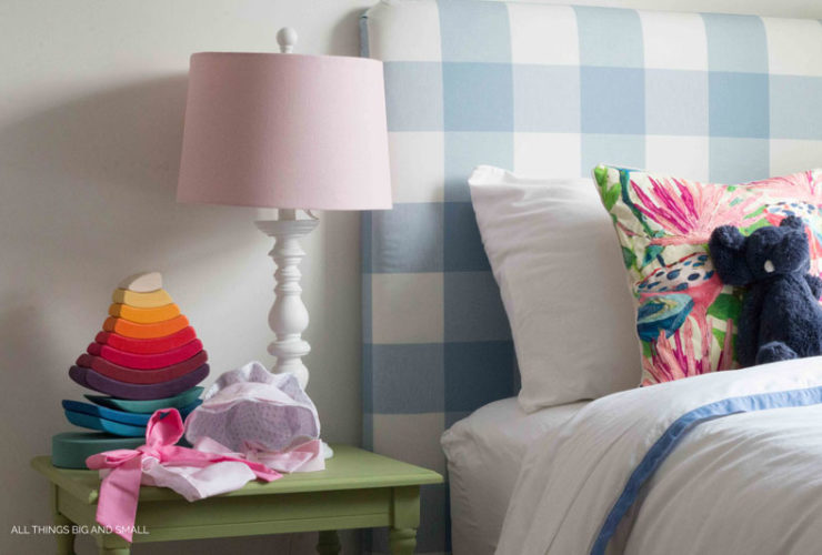 More Nursery Cha-Cha-Cha-Changes: Blue for a Girl's Room and Serena & Lily Border Frame Duvet