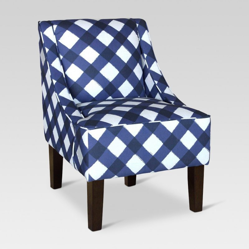 target accent chair- affordable blue and white buffalo accent chair