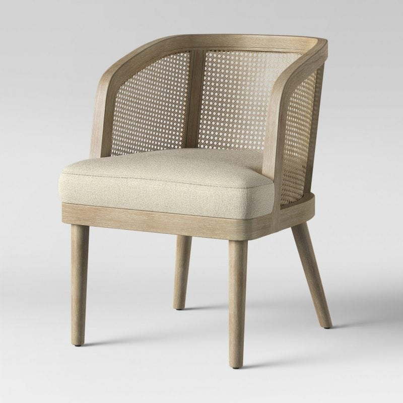 caned target accent chair - affordable accent chair under 200