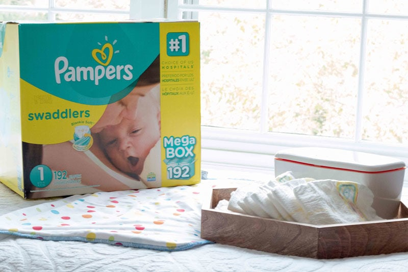 box of diapers newborn must haves you need