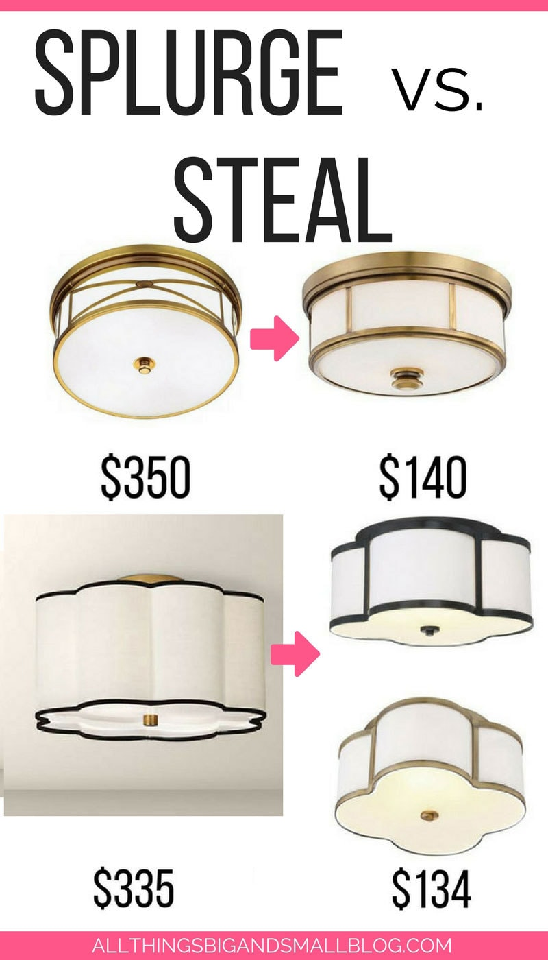 SAVE THIS! Expensive brass ceiling light look for less!