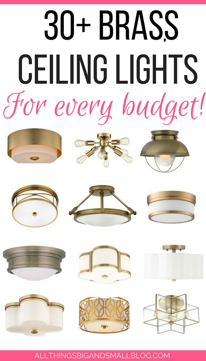 SAVE THIS! The best brass ceiling light at every budget!