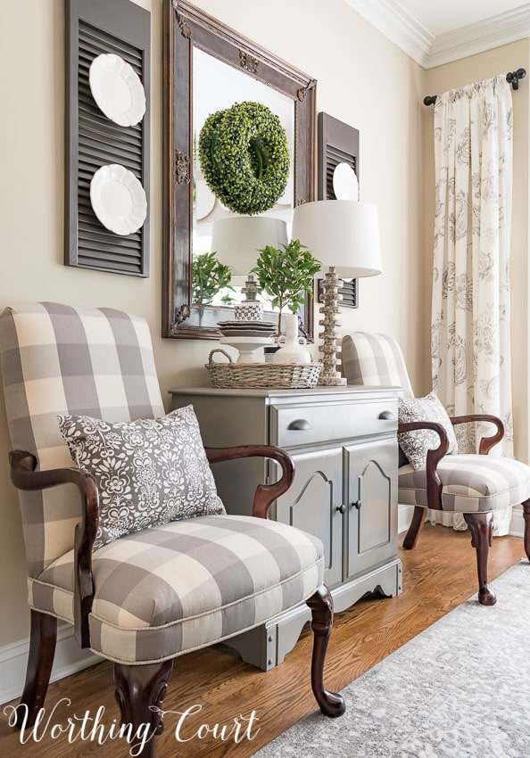 Buffalo Check Dining Chairs- Worthing Court