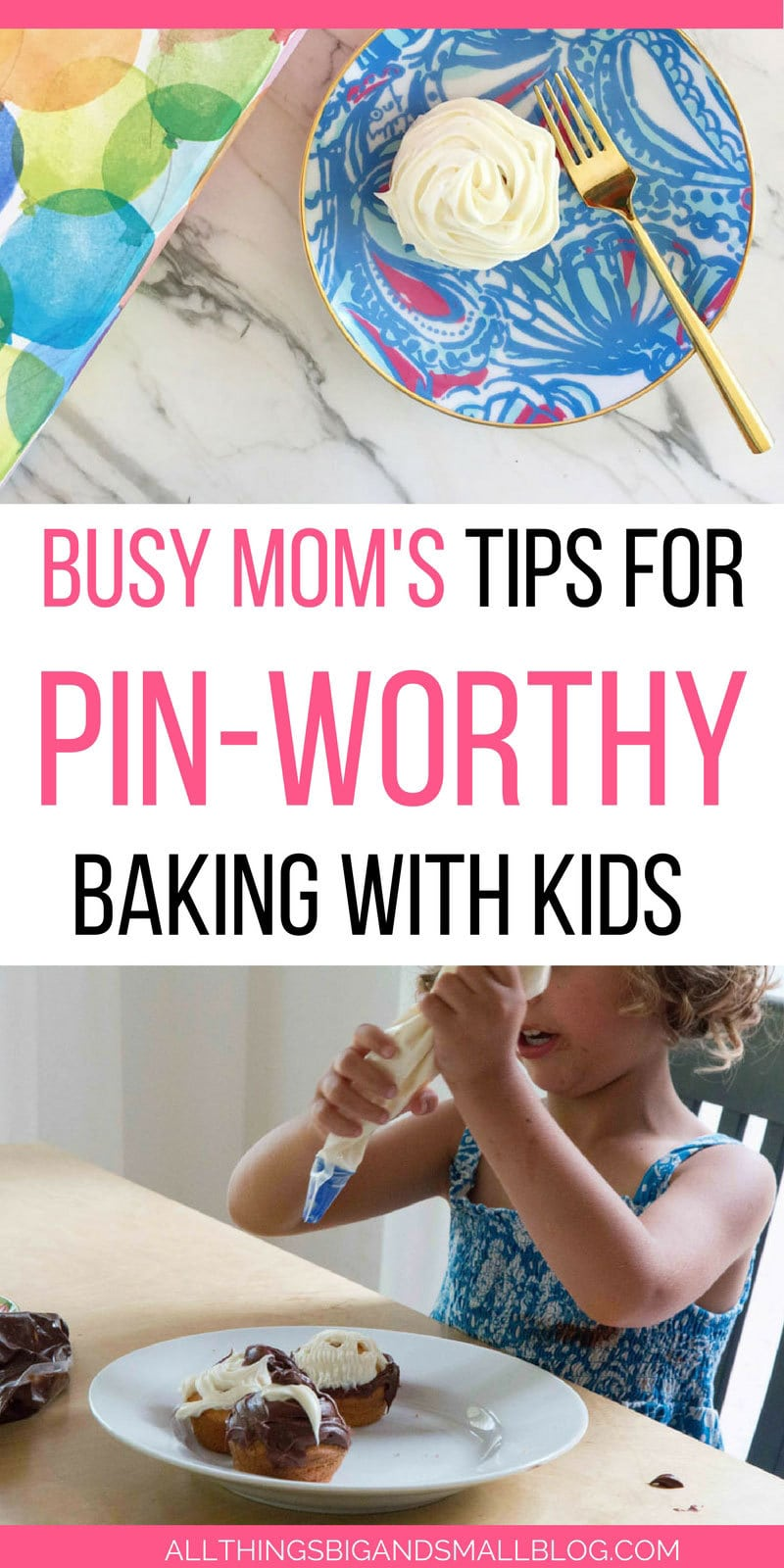 The EASIEST trick for making Pinterest-worthy baking with kids from one super busy mom of three! #AD #Doughboysurprise