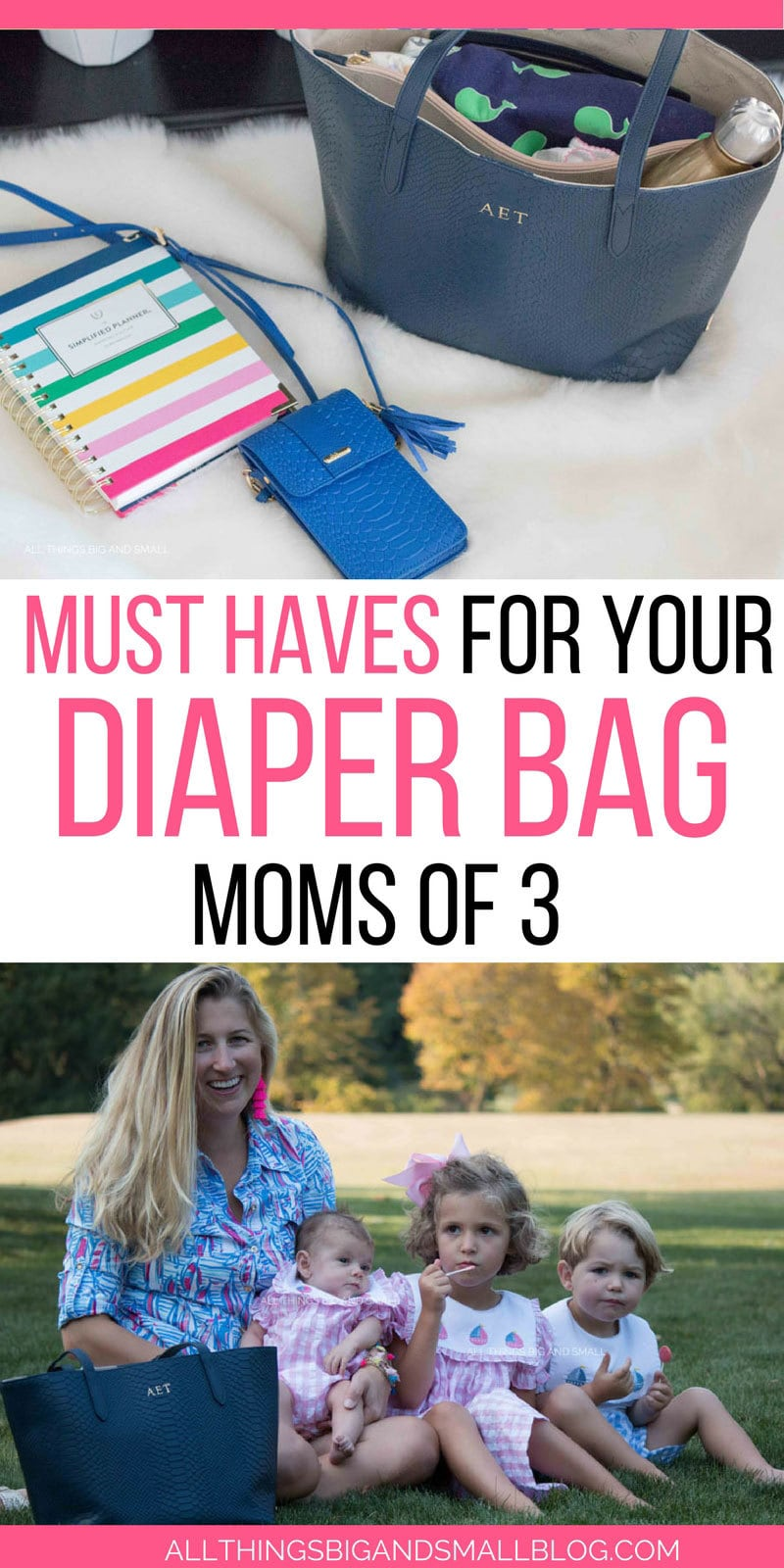 Diaper Bag Checklist for Moms of Three--Toddlers and Baby Diaper Bag Must Haves - Diaper Bag for Toddler and Newborn: What You Need and What You Don't by popular mom blogger DIY Decor Mom