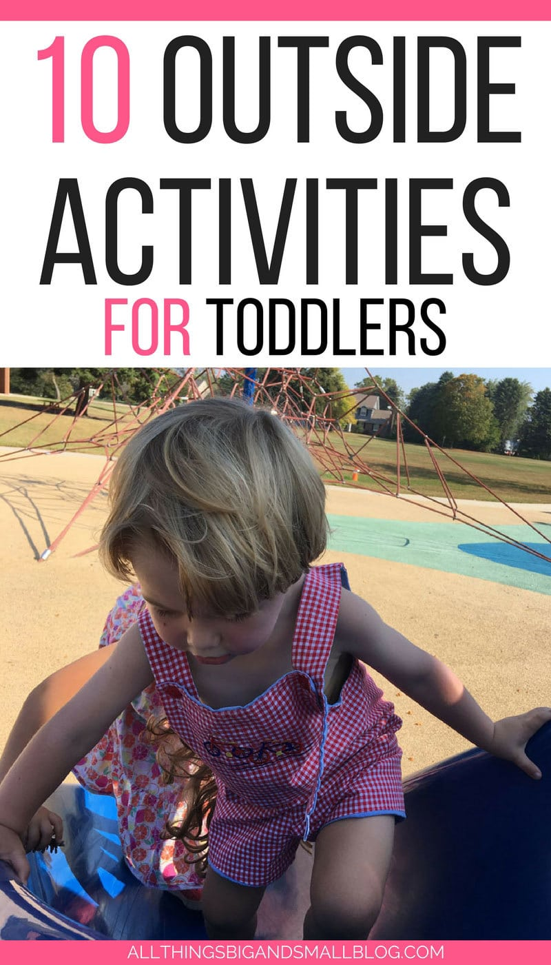 LOVE THIS! Such great ideas for outside activities for toddlers #AD - 10 Outside Activities for Kids by popular Mom blogger DIY Decor Mom
