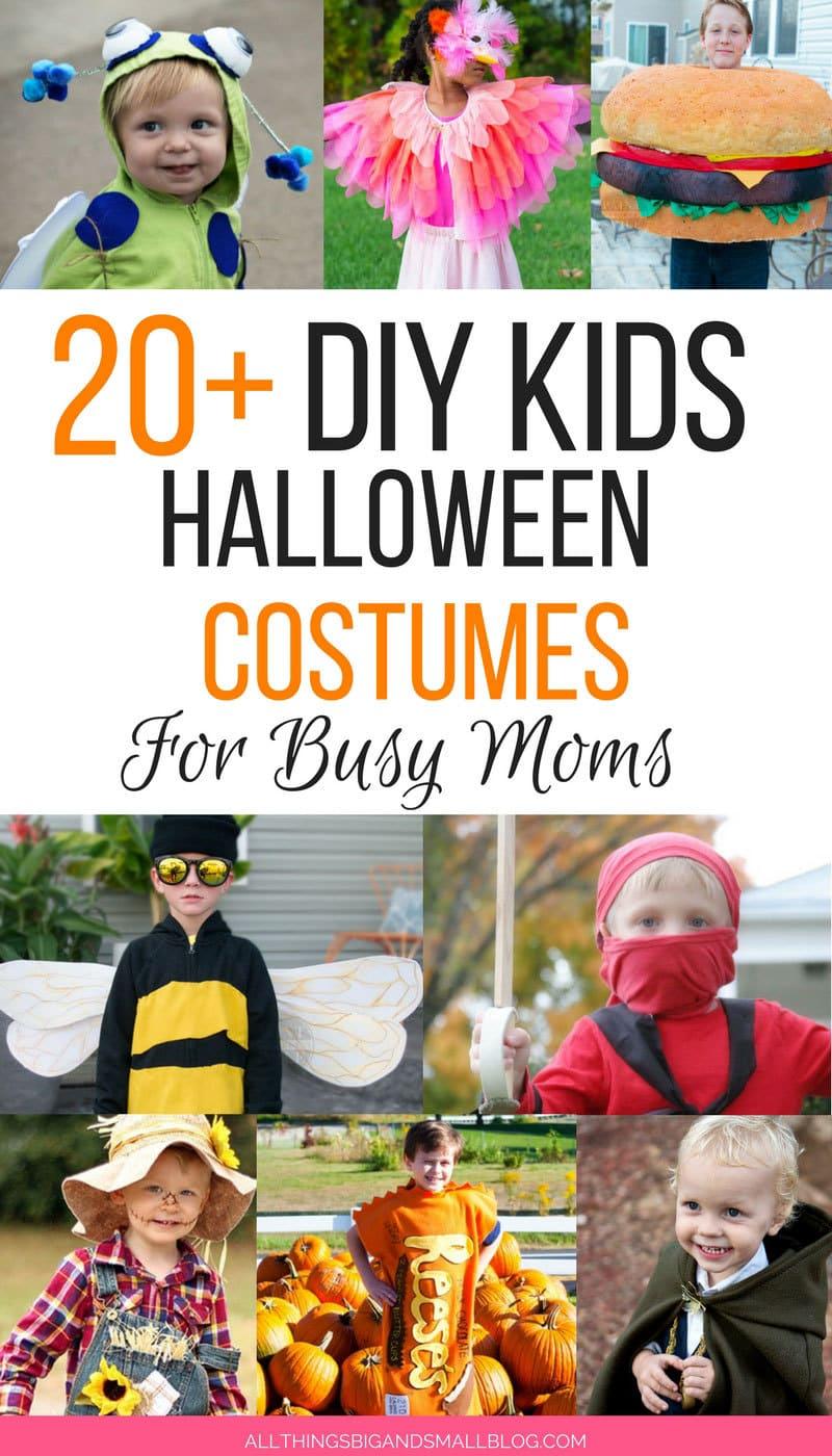 OMG! Love these DIY Kids Halloween Costumes