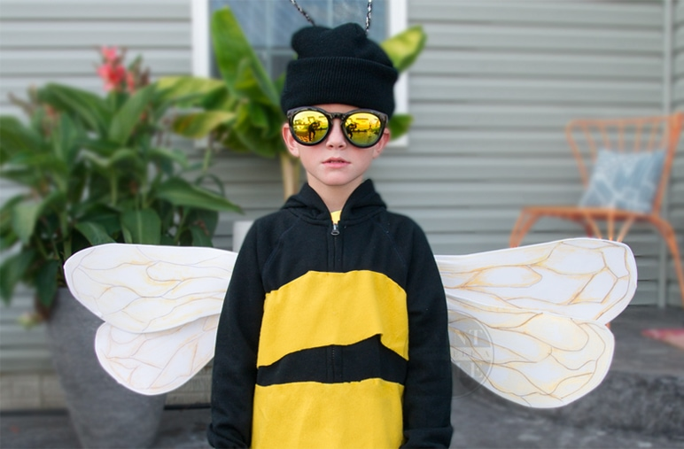 DIY Kids Halloween Costume- DIY Bumble Bee