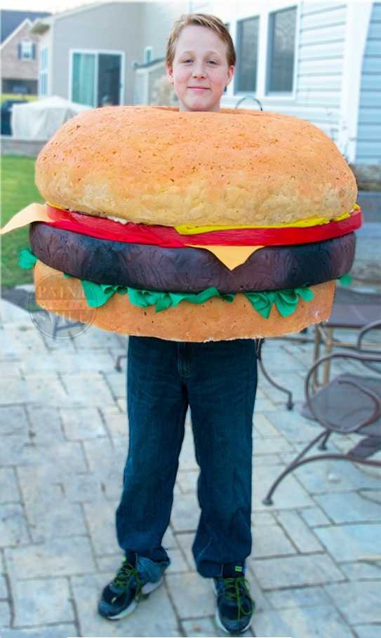 DIY Kids Costumes- DIY Hamburger Costume