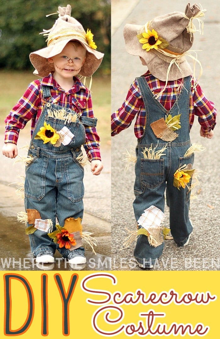 DIY Kids Halloweeen Costumes-- Easy Scarecrow Costume