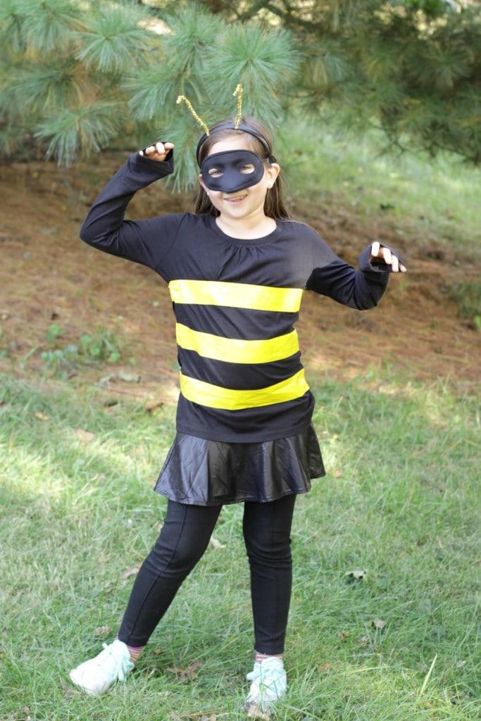 easy DIY Kids bee costume