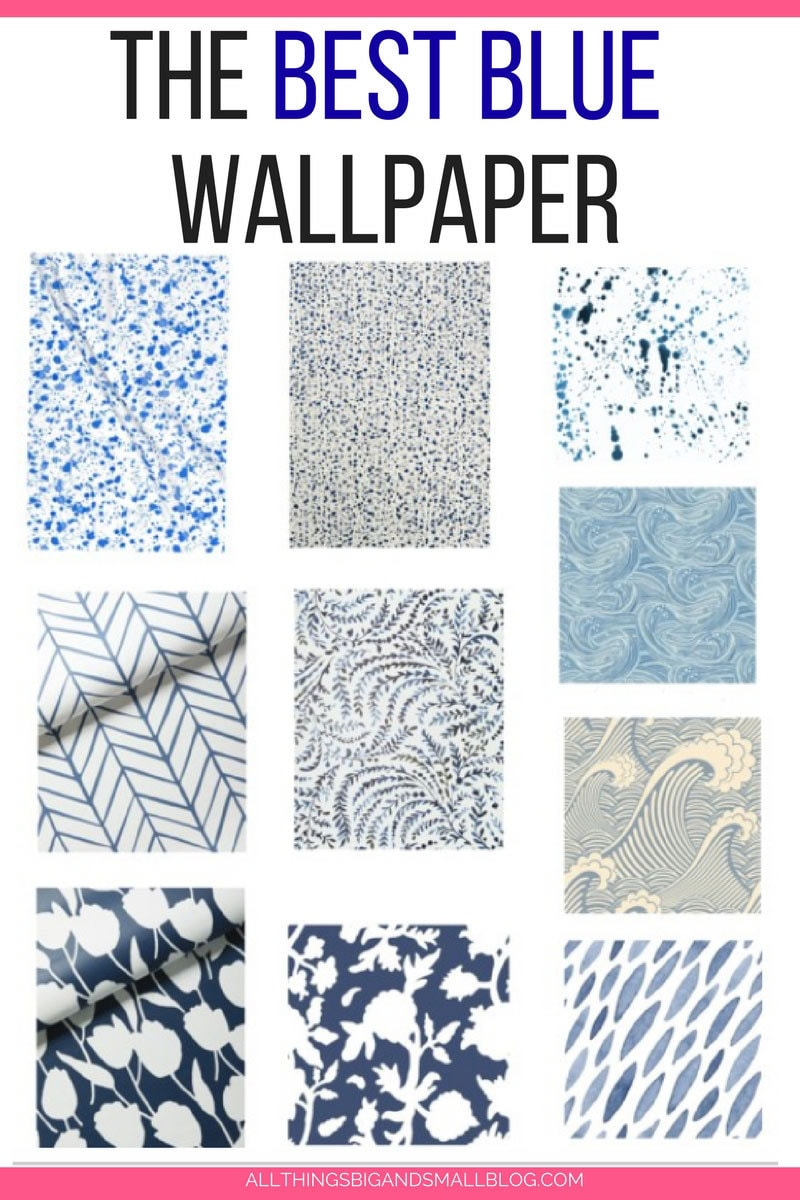 LOVE this blue wallpaper!