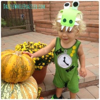 DIY Halloween Costumes- Tick Tock Croc