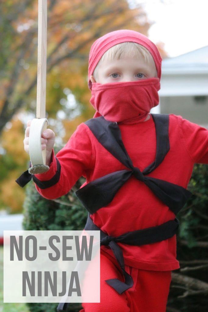 DIY Kids Costumes- No Sew Ninja