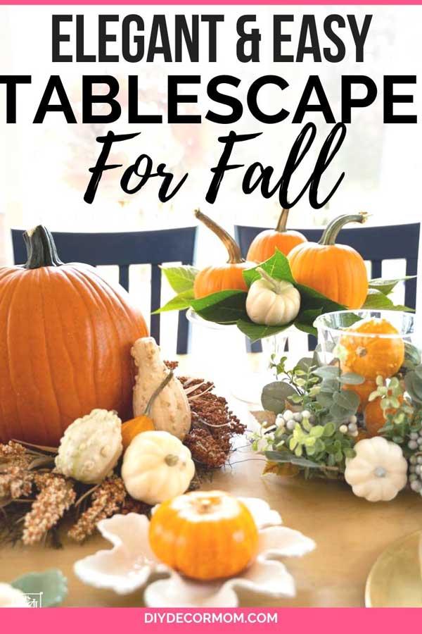 elegant fall tablescape decorations