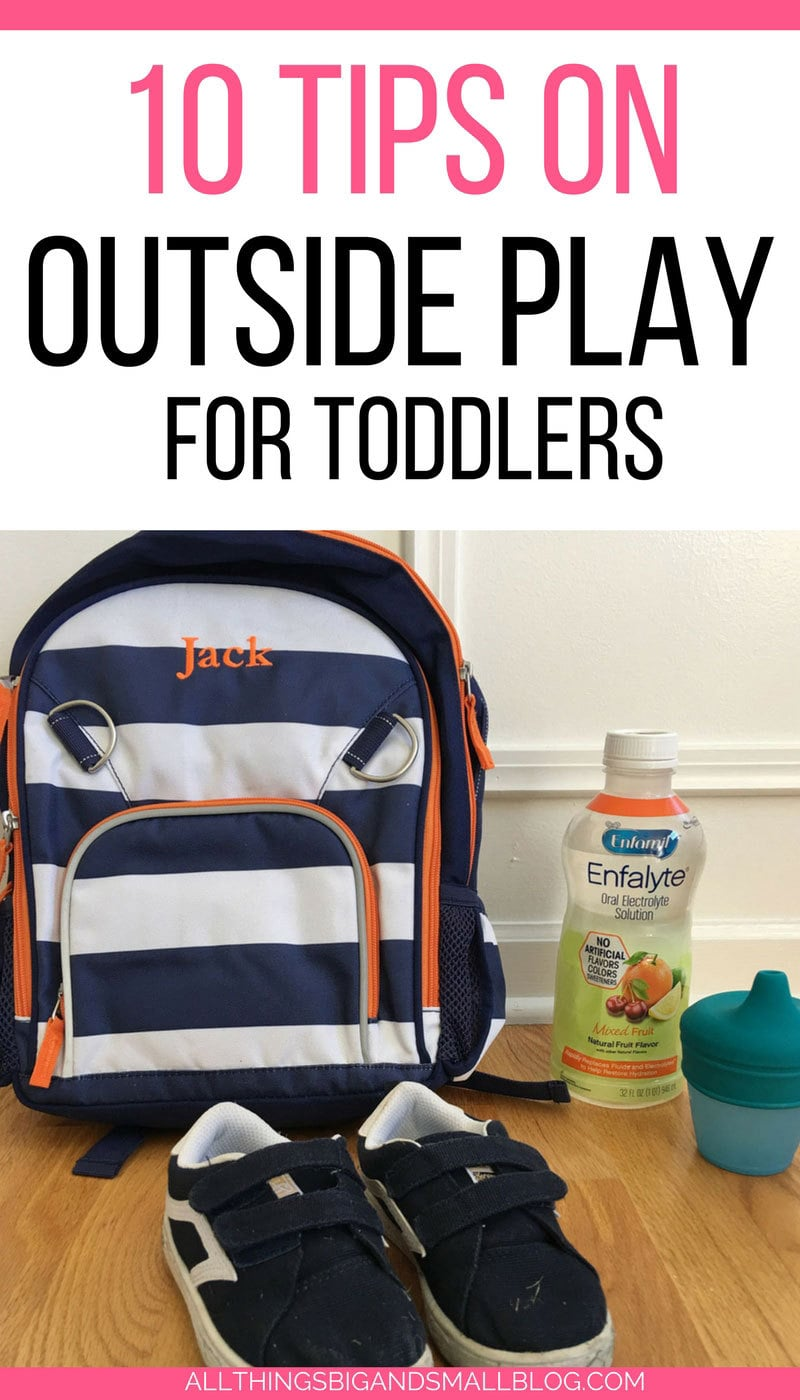 #AD SUCH good tips for getting toddlers outside!  - 10 Outside Activities for Kids by popular Mom blogger DIY Decor Mom