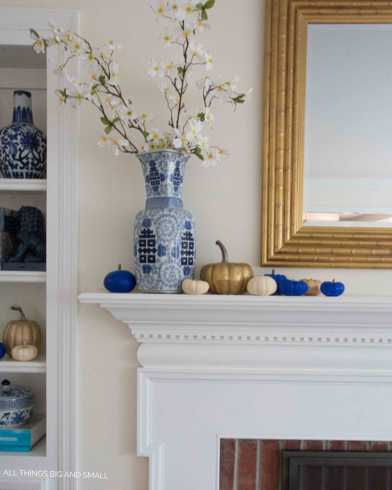 blue and white home tour