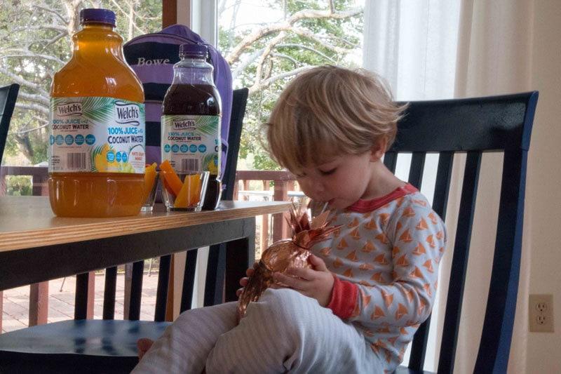 mom hack- get kids to drink coconut juice