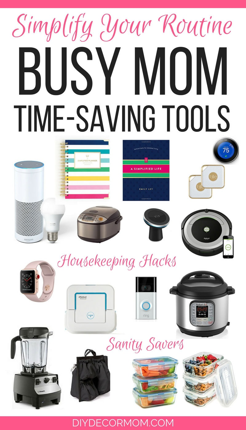 LOVE THIS! The best list of time saving tools for busy moms aka every mom who needs more time!