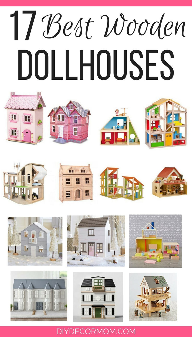 SO CUTE! Love these wooden dollhouses--I want them all! Great guide broken down by price and style!