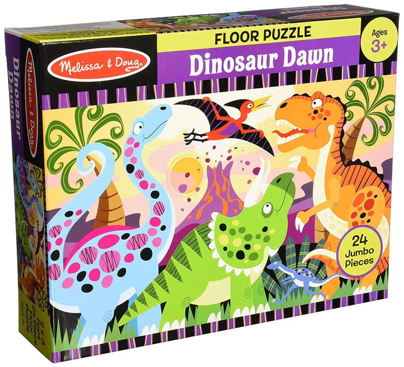 best dinosaur toys and dinosaur gift ideas for toddlers and prescoholers--great dinosaur floor puzzle