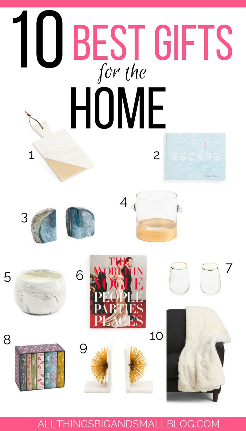 Made my holiday shopping so easy! Love this list of gifts for the home! #AD #TJMaxx