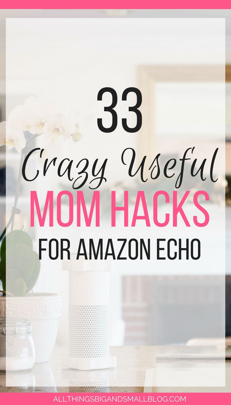 OMG! Love this! The best #momhacks for Amazon ECHO