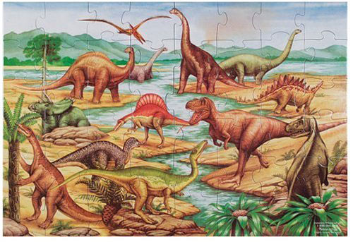 love this dinosaur floor puzzle-- great dinosaur toy and gift ideas for dinosaur lovers