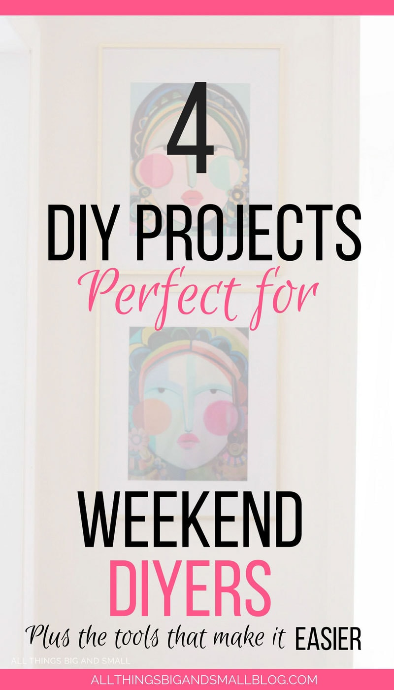 Such good ideas for easy #DIY Projects for the weekends to beautify your home #DIYer #homedecor #GOWITHGOPAK @BlackAndDecker - Easier Weekend DIY Projects that Beautify Your Home and the Tools that Make It Easier by popular home decor blogger DIY Decor Mom