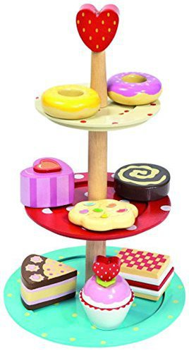 love this wooden play food cake stand - Wooden Play Food by popular style blog DIY Decor Mom