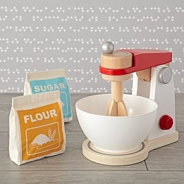 such a cute wooden play food mixer - Wooden Play Food by popular style blog DIY Decor Mom