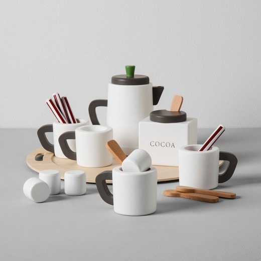 such cute wooden play food love the hot cocoa set - Wooden Play Food by popular style blog DIY Decor Mom