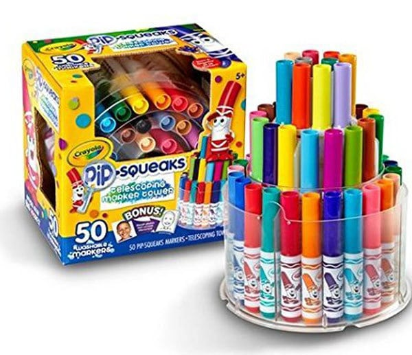 art gifts- crayola marker tower best for preschoolers - Art Gifts for the Preschooler who Wants to Be an Artist by popular mom blogger DIY Decor Mom