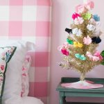 Small Decorated Christmas Trees: Pink and Blue and Gold ALL OVER