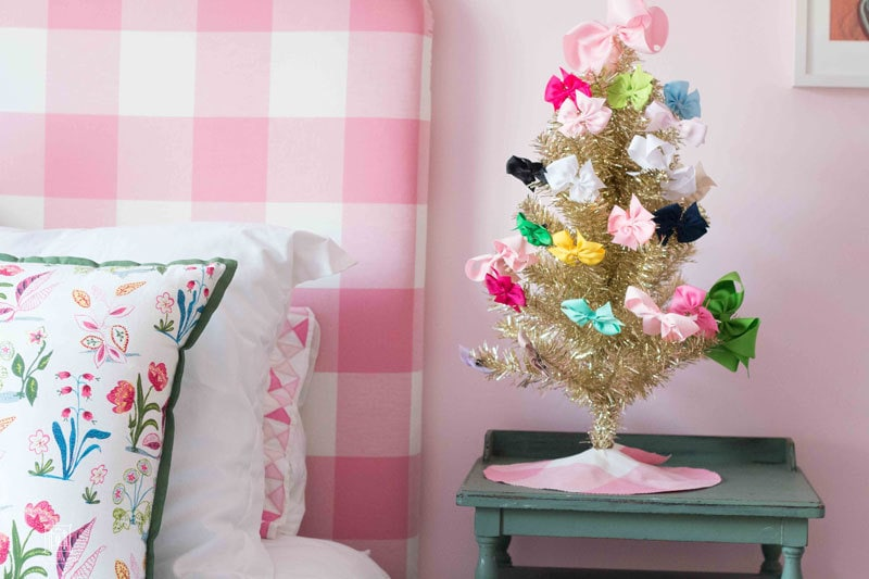 small decorated christmas trees pink and blue and gold all over by popular home decor