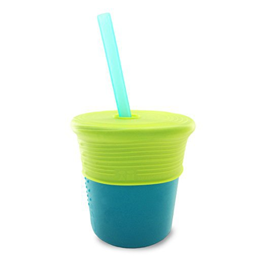 silicone cup with straw perfect kids cooking utensil great for smoothies - Kids Cooking Utensils: The Best Tools for Getting Kids Helping in the Kitchen by popular mom blogger DIY Decor Mom