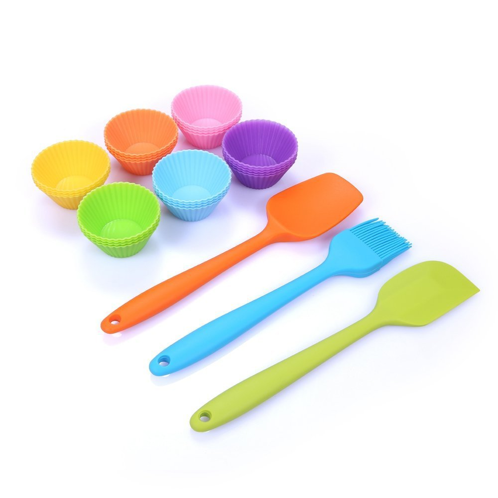 kids kitchen utensils- these mini scrapers are perfect for toddlers - Kids Cooking Utensils: The Best Tools for Getting Kids Helping in the Kitchen by popular mom blogger DIY Decor Mom