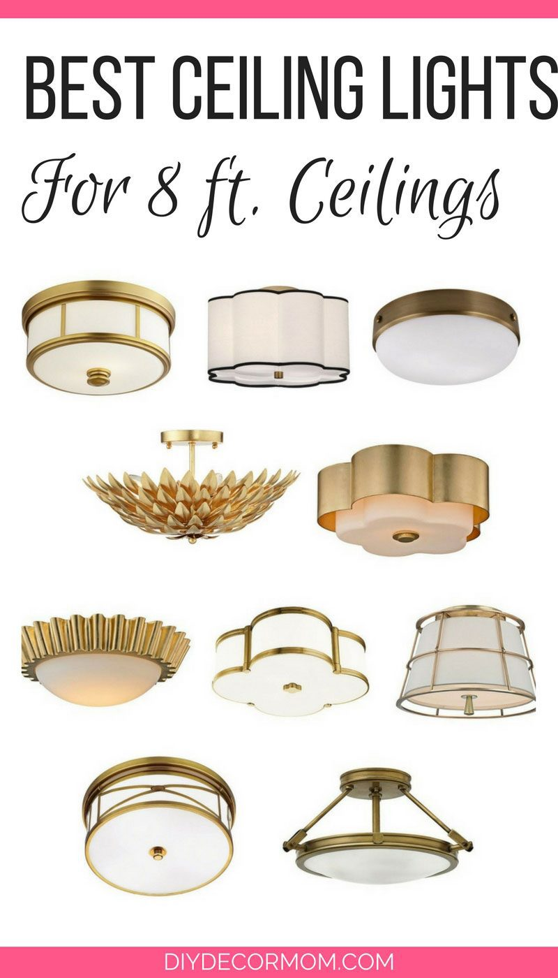 SAVING! Love these semi flush ceiling lights that are perfect for homes with 8 ft ceilings - Semi Flush Ceiling Lights by popular home decor blogger DIY Decor Mom