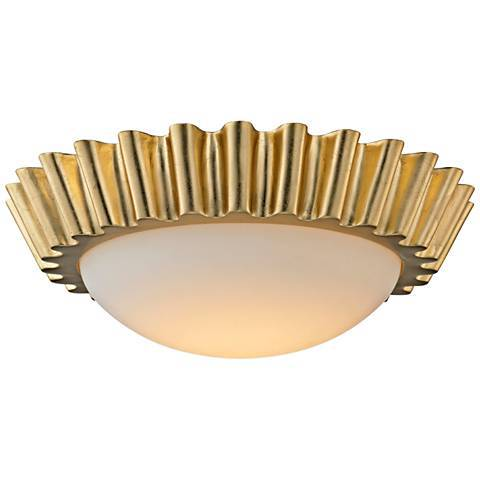emi-flush-mount-reese-wide-gold - Semi Flush Ceiling Lights by popular home decor blogger DIY Decor Mom