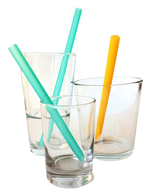 silicone straws great kids cooking utensils for preschoolers and toddlers - Kids Cooking Utensils: The Best Tools for Getting Kids Helping in the Kitchen by popular mom blogger DIY Decor Mom