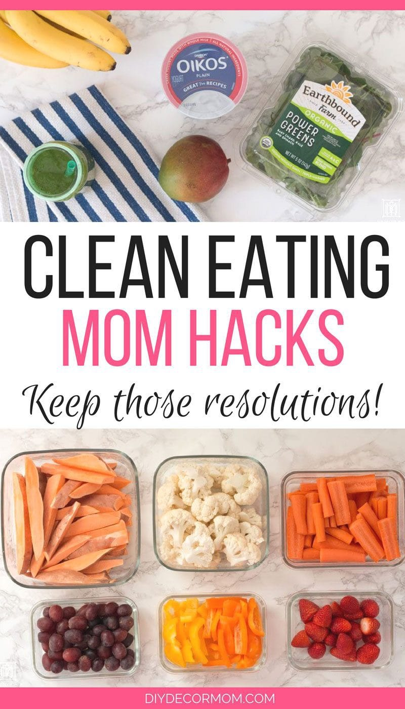 LOVE these easy mom hacks for clean eating! SAVING! @meijer #MeijerResolution #getresolutionready #ad - Mom Hacks for Clean Eating: New Years Resolutions by popular mom blogger DIY Decor Mom