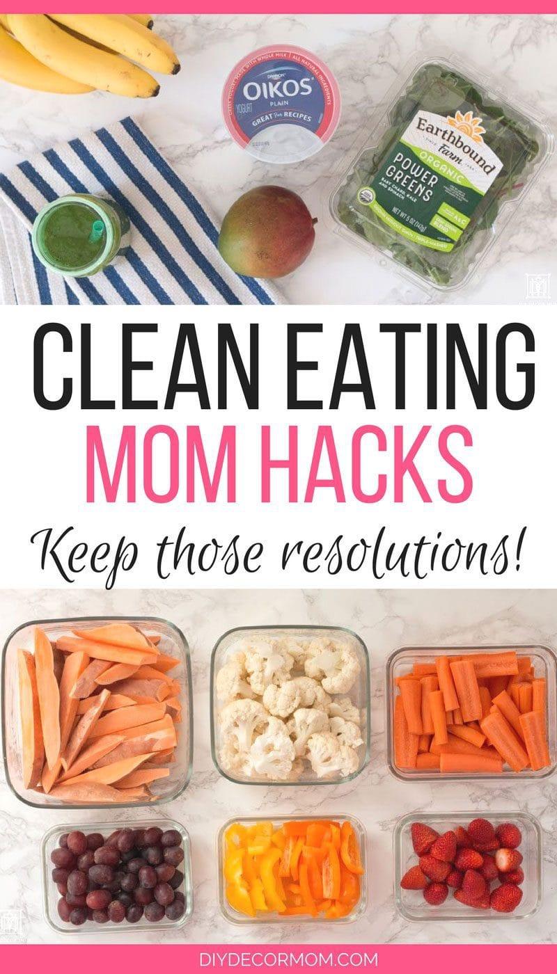 LOVE these easy mom hacks for clean eating! SAVING! @meijer #MeijerResolution #getresolutionready #ad - Mom Hacks for Clean Eating: New Years Resolutions by popular mom blogger DIY Decor Mom