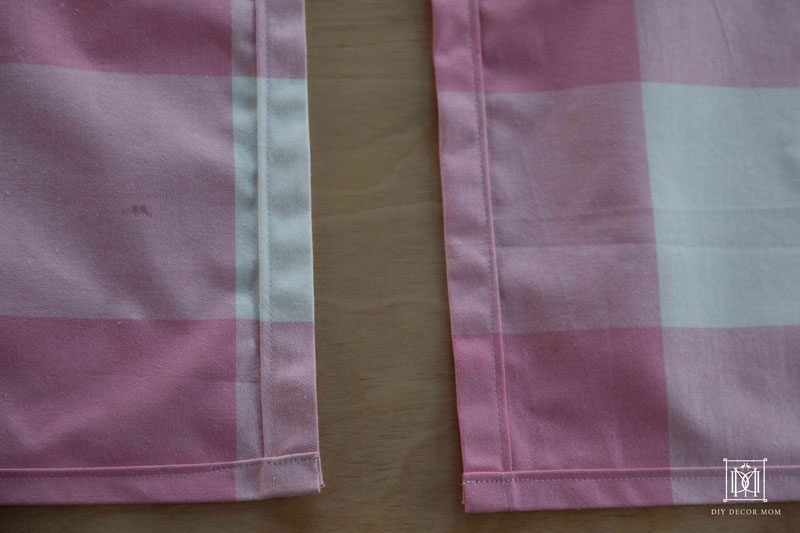 baby crib skirt | diy crib skirt instructions | pink buffalo check crib skirt