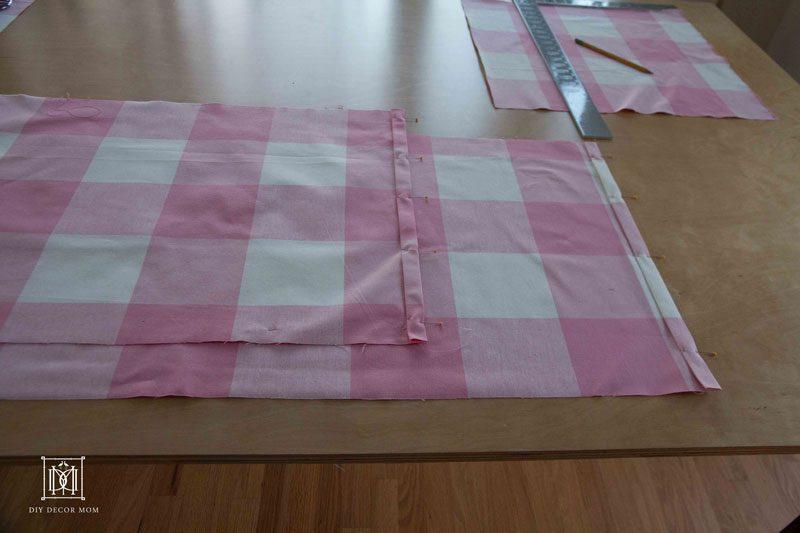 buffalo check fabric DIY crib skirt | DIY Crib skirt tutorial by home decor blogger DIY Decor Mom