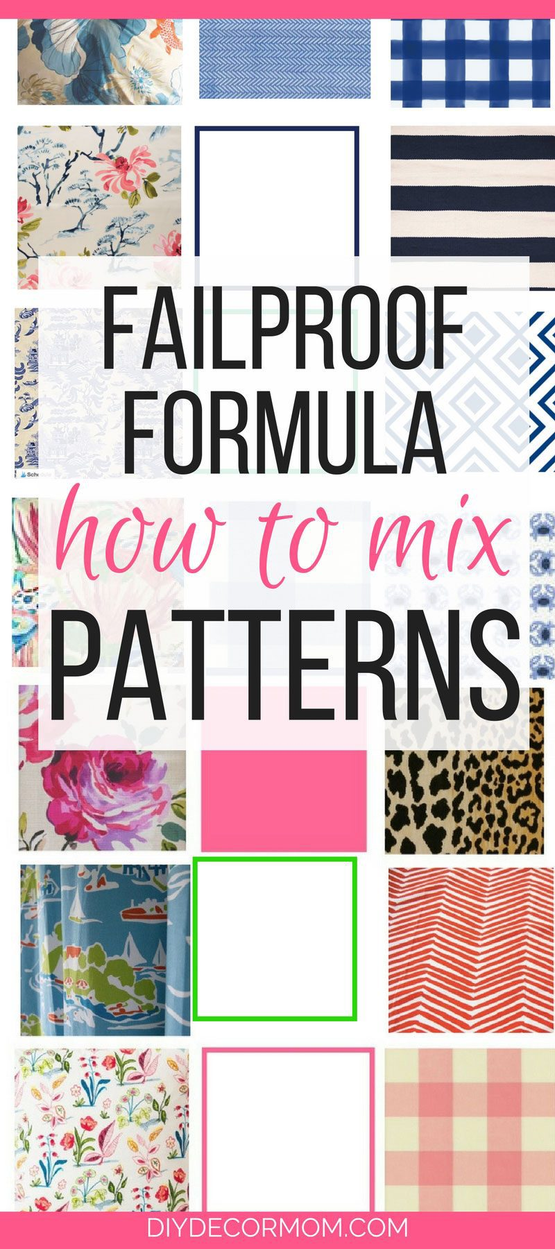 mix fabric patterns and fabrics formula by home decor blogger DIY Decor Mom