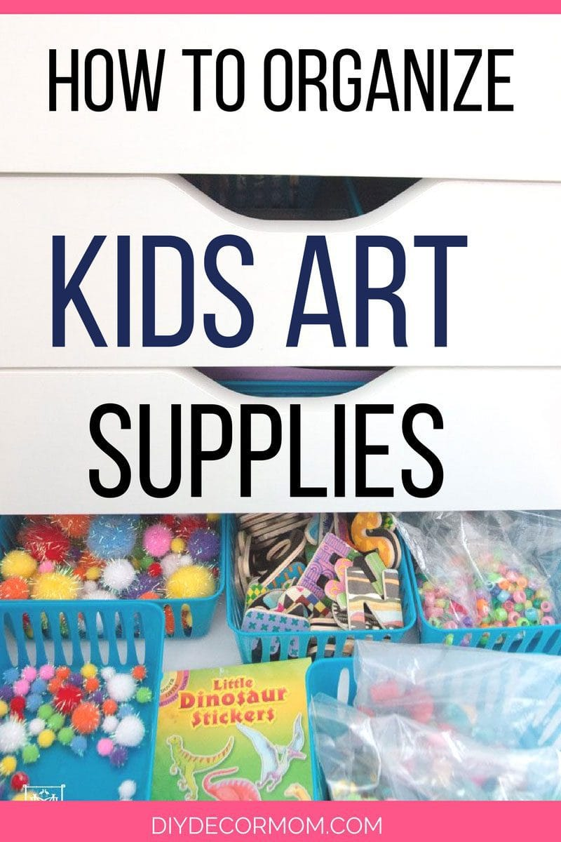 BRILLIANT! Best kids art storage hacks for moms! Kids arts and crafts supplies are easily organized and stored this way! Tips from popular blogger DIY Decor Mom