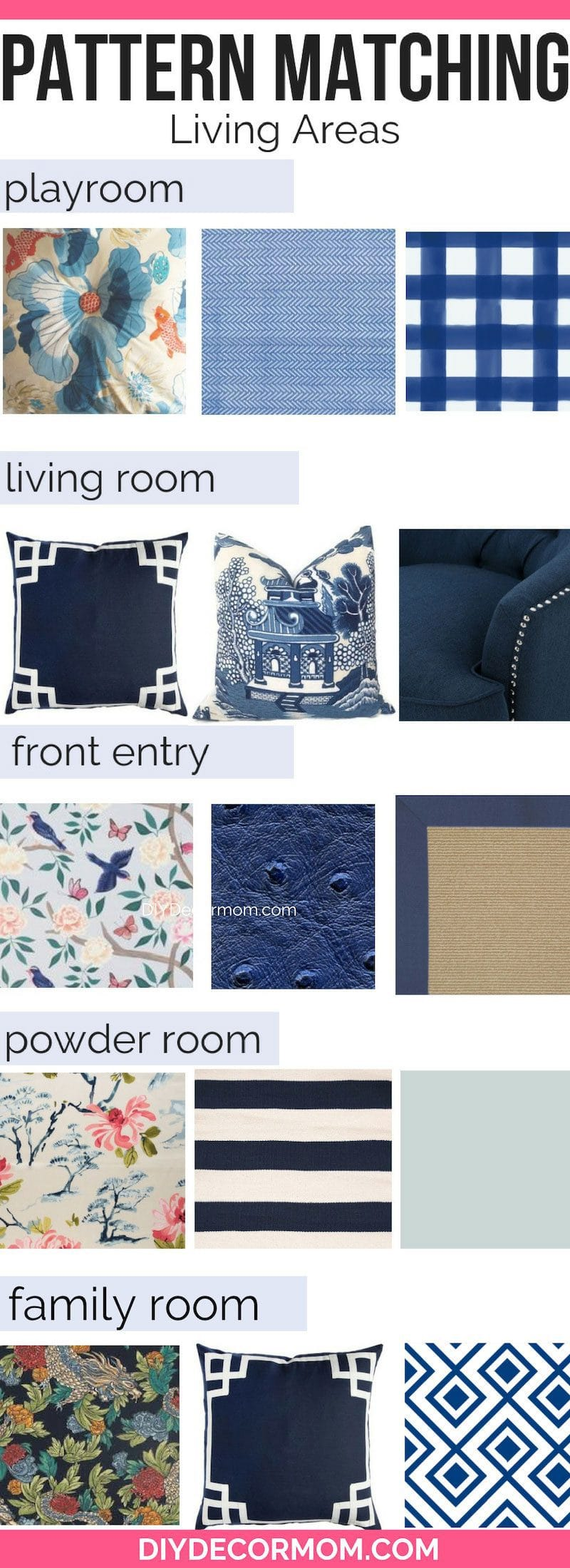 how to pick out fabric patterns in your home including mixing and matching patterns