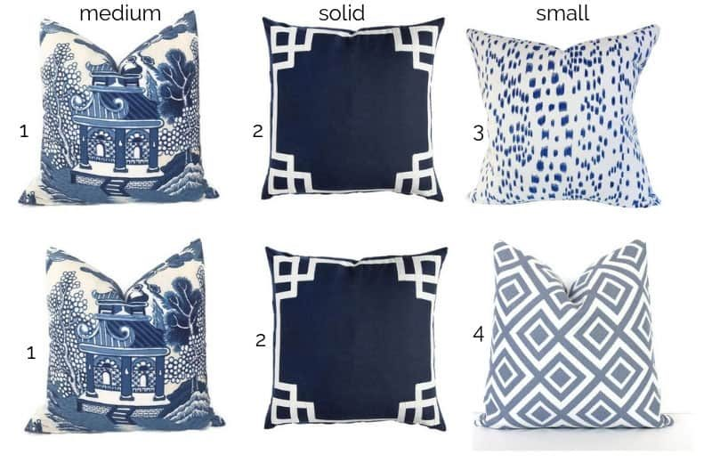 how to mix and match fabric patterns- vary the scale and type of pattern
